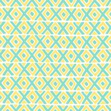 Diamond and a cross vector seamless pattern. Royalty Free Stock Image