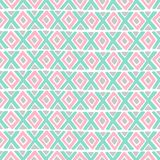 Diamond and a cross vector seamless pattern. Royalty Free Stock Photography