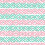 Diamond and a cross vector seamless pattern. Royalty Free Stock Images
