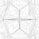 Diamond Crystal Geometric Pattern Structure Vector Royalty Free Stock Photos