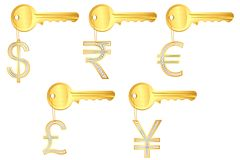 Diamond Currency Key Ring Royalty Free Stock Images