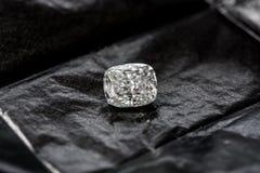 Diamond Cushion Cut. Luxury cushion crushed ice diamond on black background royalty free stock photography