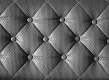 Diamond cushion pattern of grey vintage sofa, texture and backgr Royalty Free Stock Image