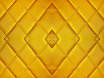 Diamond cushion pattern of yellow vintage sofa, texture and back Royalty Free Stock Photo
