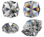 Diamond cut gem isolated Royalty Free Stock Photo