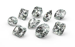Diamond Cuts Stock Images