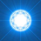 Diamond cutting glowing light flare Stock Image