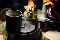 Diamond Cutting handcraft Immagini Stock