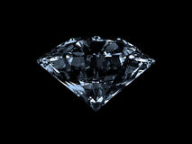 Diamond. 3D Illustration Side View (with clipping path Royalty Free Stock Photos