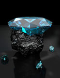 Diamond 3D Set 3 Royalty Free Stock Images