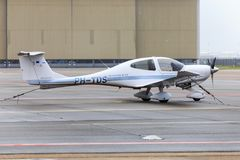 Diamond DA40 propeller plane Royalty Free Stock Photos