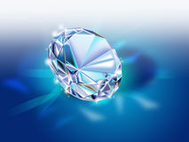Diamond on dark blue background Stock Photography