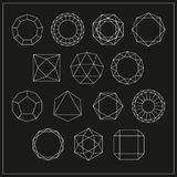 Diamond and design elements vector icons set. Vector Royalty Free Illustration