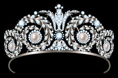Diamond diadem Royalty Free Stock Photography