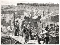 The diamond diggings at Kimberley-Kopje in 1872 Stock Photo
