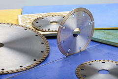 Diamond discs for cutting of tile Stock Photo