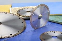 Diamond discs for cutting of tile Stock Photo