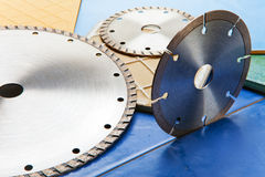 Diamond discs for cutting of tile Royalty Free Stock Photo