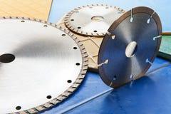 Diamond discs for cutting of tile Royalty Free Stock Photo