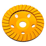 Diamond disk for concrete cutting and abrasion.Close up Stock Images