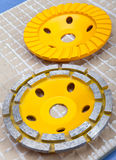 Diamond disks for concrete cutting and abrasion.Still-life Royalty Free Stock Images
