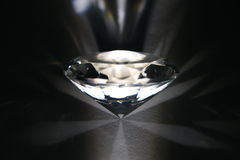 Diamond in in disperse white light Royalty Free Stock Images