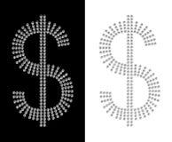 Diamond dollars Stock Image