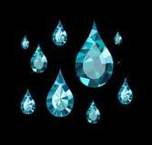 Diamond Drops Royalty-vrije Stock Foto