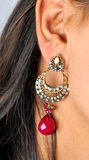 Diamond ear dangles jewellery Royalty Free Stock Images