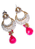 Diamond ear dangles jewellery Stock Photography