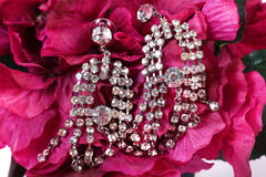 Diamond ear-rings royalty free stock image