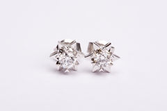 Diamond earing Stock Photos