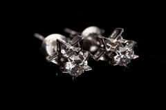 Diamond earing Royalty Free Stock Image
