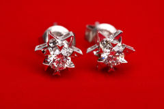 Diamond earing Royalty Free Stock Photography