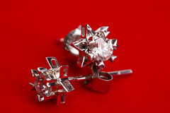 Diamond earing Stock Photography