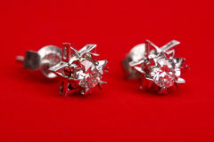 Diamond earing Stock Photo