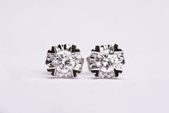 Diamond earing royalty free stock images