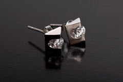 Diamond earing Stock Image
