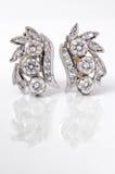 Diamond earings Stock Photo