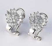 Diamond earring stock image