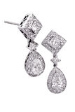 Diamond earrings Stock Images