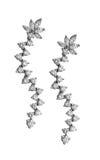 Diamond earrings Stock Photos