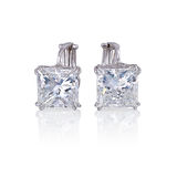Diamond earrings. Royalty Free Stock Photography