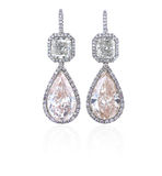 Diamond earrings. Royalty Free Stock Photo