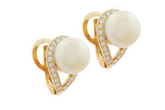 Diamond Earrings Imagens de Stock Royalty Free