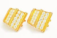 Diamond Earrings Imágenes de archivo libres de regalías