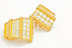 Diamond Earrings imagens de stock