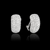Diamond Earrings Royalty Free Stock Photo