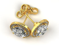 Diamond Earrings Stock Image