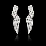 Diamond earrings Royalty Free Stock Image